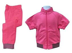 New NIKE Little Girls Cotton Jacket and Trousers Set Pink Ag